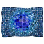 Optical Illusion Sphere - Blue Pillow Sham