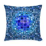 Optical Illusion Sphere - Blue Master Pillow