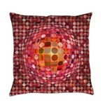 Optical Illusion Sphere - Pink Master Pillow