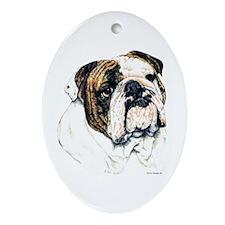 Bulldog Breed Oval Ornament