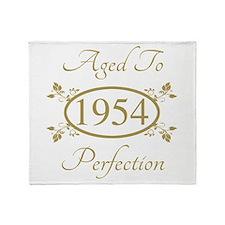 1954 Birth Year (Elegant) Throw Blanket
