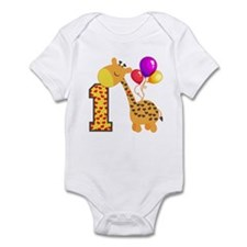 1st Birthday Giraffe Infant Bodysuit