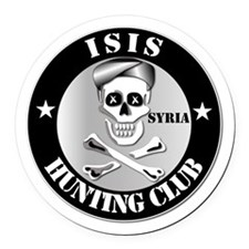 ISIS Hunting Club - Syria Round Car Magnet