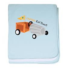 Caution Eat Dust baby blanket