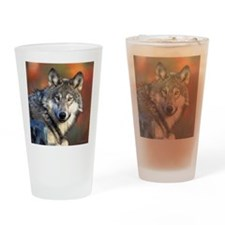 Wolf Photograph Drinking Glass
