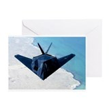 F117 Stealth Fighter Greeting Cards (6)