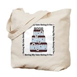 2008 Blue Brown Wedding Cake Tote Bag