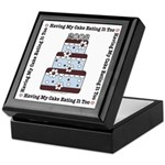 2008 Blue Brown Wedding Cake Keepsake Box
