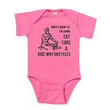 Cake & Motorcycles Baby Bodysuit