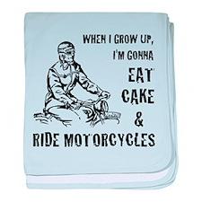 Cake & Motorcycles baby blanket