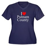 """I Love Putnam County"" Women's Plus Size V-Neck Da"
