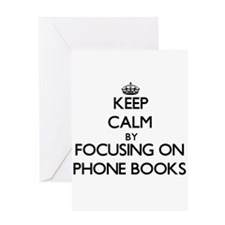 Keep Calm by focusing on Phone Book Greeting Cards