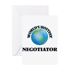 World's Hottest Negotiator Greeting Cards