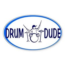Drum Dude Oval Decal