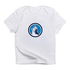 Red Fox Head Howling Circle Retro Infant T-Shirt