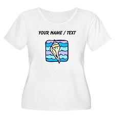 Custom Sea Shell Plus Size T-Shirt