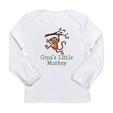 Oma's Little Monkey Long Sleeve T-Shirt