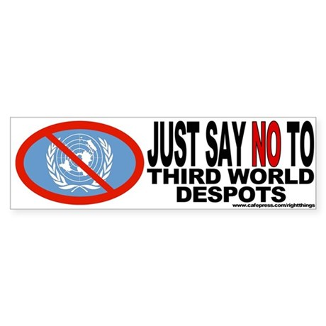 UnAmerican (NO to the U.N.) Bumper Sticker