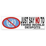 UnAmerican (NO to the U.N.) Bumper Sticker