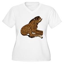 Baby Giraffe - Lg Plus Size T-Shirt