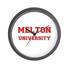 MELTON UNIVERSITY Wall Clock