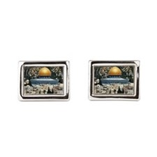 Dome of the Rock, Temple Mou Rectangular Cufflinks
