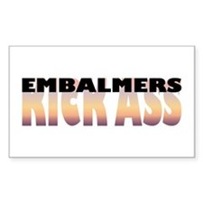 Embalmers Kick Ass Rectangle Decal