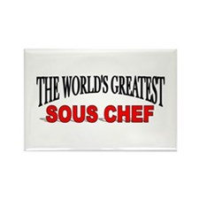 """The World's Greatest Sous Chef"" Rectangle Magnet"