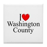 """I Love Washington County"" Tile Coaster"