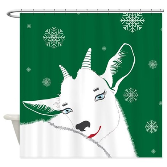 Cute Animal Christmas Goat Shower Curtain