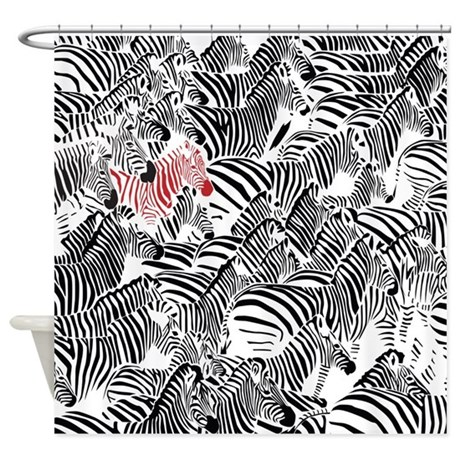 Ok To Be Different - Zebra Shower Curtain