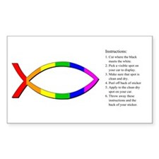 Jesus Fish Rainbow Decal