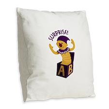 Surprise Burlap Throw Pillow