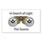 The source of the Search for Light Sticker (Recta