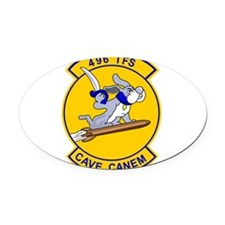 2-496_TFS_cave_canem.png Oval Car Magnet