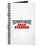 """The World's Greatest Back Stabber"" Journal"