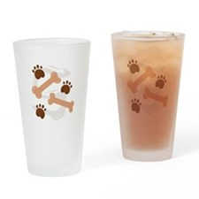 Dog Bones Drinking Glass