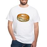 Bagel and Cream Cheese White T-Shirt