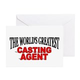 """The World's Greatest Casting Agent"" Greeting Card"