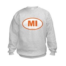 Michigan MI Euro Oval Sweatshirt