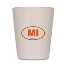 Michigan MI Euro Oval Shot Glass