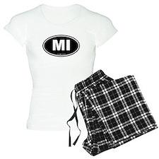 Michigan MI Euro Oval Pajamas
