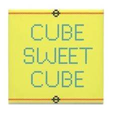 Cube Sweet Cube Tile Coaster