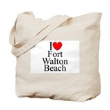"""I Love Fort Walton Beach"" Tote Bag"