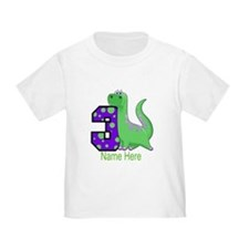 Dinosaur 3rd Birthday Custom T