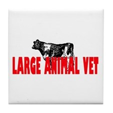 LARGE ANIMAL VET Tile Coaster