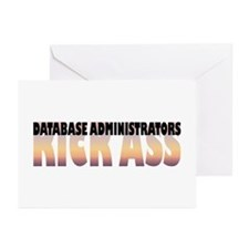 Database Administrators Kick Ass Greeting Cards (P