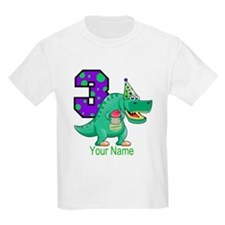 T-Rex 3rd Birthday Custom T-Shirt