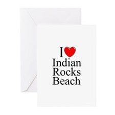 """I Love Indian Rocks Beach"" Greeting Cards (Packag"