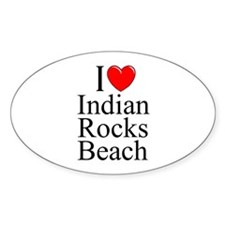 """I Love Indian Rocks Beach"" Oval Decal"